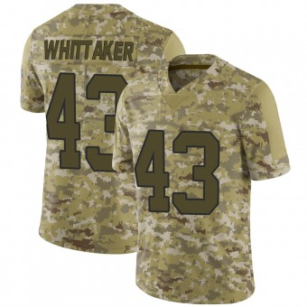 Men's Fozzy Whittaker Camo Limited 2018 Salute to Service Football Jersey