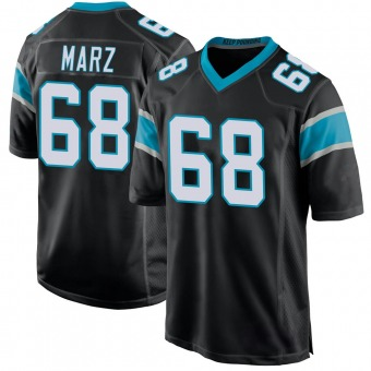 Youth Tyler Marz Black Game Team Color Football Jersey